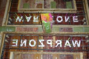 Schalung mit Buchstaben