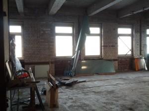 Die neuen Räumen nach dem Aufräumen, Platz ohne Ende, Blick Richtung Norden
