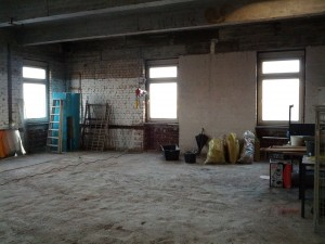 Die neuen Räumen nach dem Aufräumen, Platz ohne Ende, Blick Richtung Osten